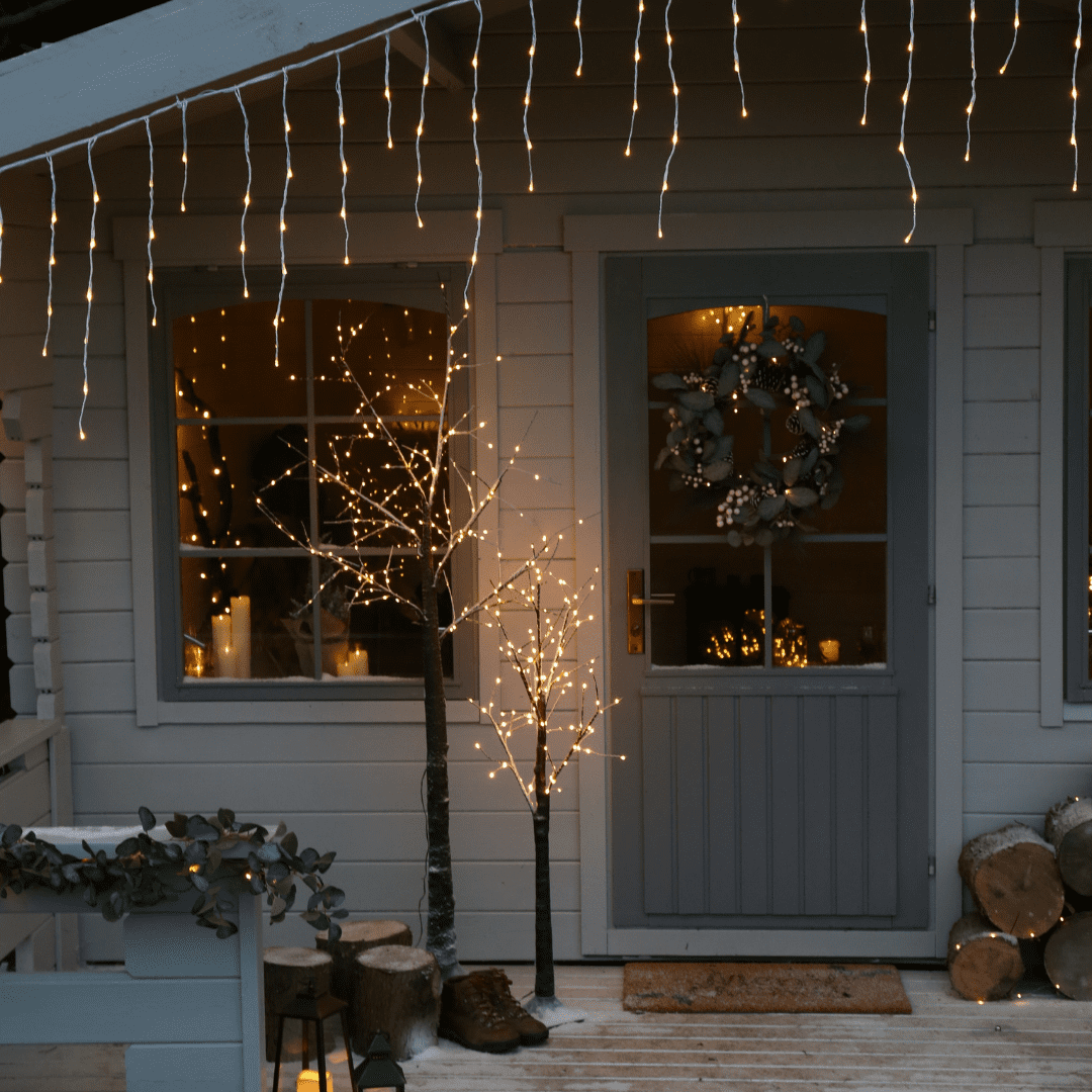 how to install christmas lights outside