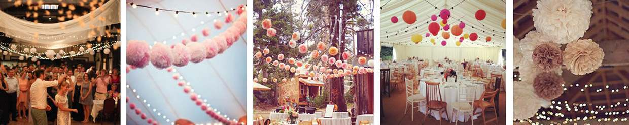 pom poms for weddings