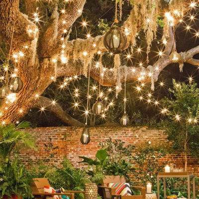 where to hang your fairy lights