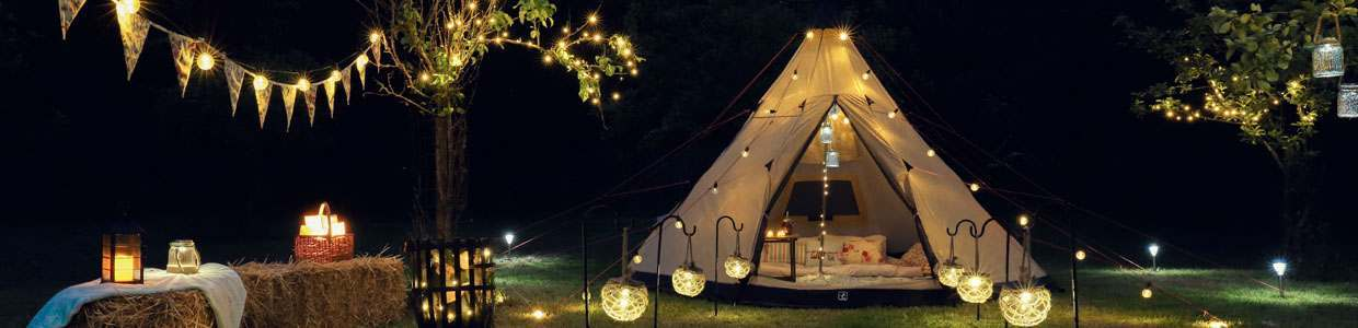 Christmas Lights For Camping.Glamping The Glamorous World Of Camping