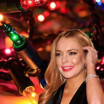 Lindsay Lohan Christmas Lights