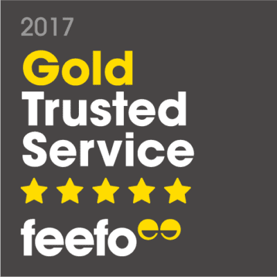Feefo Gold Trusted 2017
